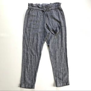 New York & Company Gray Linen Pants Size Small